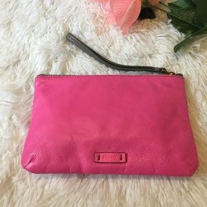 Fossil pink Leather wristlet